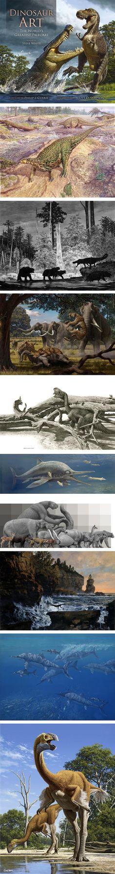 Dinosaur Art: The World's Greatest Paleoart: Raul Martin, John Sibbick, Douglas Henderson, Mauricio Antón.