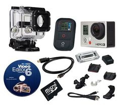 GoPro HERO3 Black Camcorder with Software, HDMICable & Acc. — QVC.com