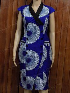 Items similar to Ankara Blazer Dress with Cap Sleeves on Etsy - Ankara Blazer Dress with Cap Sleeves by MyAnkaraLove on Etsy Latest African Fashion Dresses, African Dresses For Women, African Print Fashion, African Attire, African Print Dress Designs, African Blouses, African Traditional Dresses, African Fabric, Formal