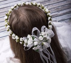 wreath for communion with colour delicate green by MonikaVenika