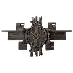 Italian Brutalist Cast Iron Modernist Wall Clock from the Modern Clock, Brutalist, Clocks, Cast Iron, 1970s, Mid Century, Inspire, Antiques, House Styles