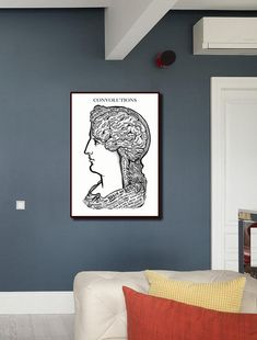 Brain and Body Wall Art/Brain and Body Chart Print/Biology and Anatomy Printing/Human Body Plate/Science Technology Retro Poster/Anatomical Body Chart, Poster On, All Print, As You Like, All Design, Science And Technology, Human Body, Biology, Anatomy