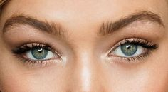 Gigi Hadid's eyes -- no heavy false lashes here.