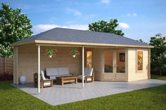 Sophia is one of our most elegant leisure buildings. Due a lack of space in your backyard you may have a dilemma. If you should buy a wooden gazebo or a garden room, Sophia is the perfect solution to get both of them in one garden building.