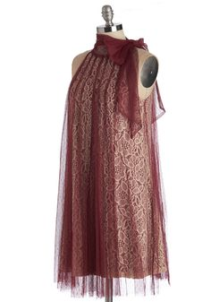 Time and Grace Dress in Merlot. The time and place have been chosen - now its up to you to find a party outfit! #red #wedding #bridesmaid #modcloth
