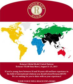 "Experience a real ""high diplomacy"" experience, prepare yourself for a global leadership! http://www.heysuccess.com/Rotaract-Global-Model-United-Nations-2013.16200?filters=Rotaract-s=1"