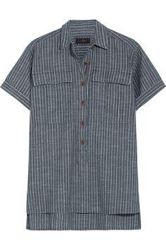 J.CREW Striped Cotton-Chambray Shirt. #j.crew #cloth #shirt