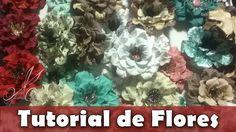 Como fazer   Flor enrugadinha de papel Rosi   Tutorial   PAP