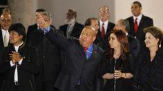 Presidentes latinoamericanos despiden a Chávez: Evo Morales, Dilma Rousseff, , Ollanta Humala, Enrique Peña Nieto, Juan Manuel Santos, expresaron sus condolencias y un profundo pesar por el fallecimiento del mandatario venezolano.