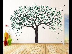 Wandtattoo - Baum Wandtattoo kirsche baums Vogelbauer - ein Designerstück von dreamkidsdecal bei DaWanda