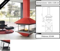 Camino design da interni Gaia centrale di Traforart - Zetalinea SRL