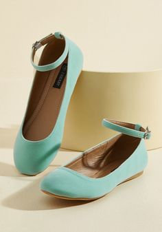 Every Step You Take Vegan Flat in Mint. Each time you go for a walk in these velvet flats, their spirited panache can be seen in the bounce of your every stride! Green Flats, Pink Flats, T Strap Flats, Strappy Flats, Vegan Shoes, Ankle Straps, Pump Shoes, Me Too Shoes, Fab Shoes