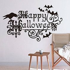 Clest F&H Halloween Wall Stickers Removable Waterproof Home Art Decoration…