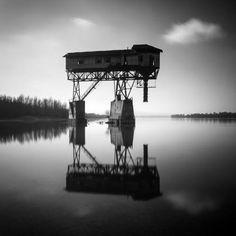 Abandoned coal loader on the Danube near Eszergom, Hungary