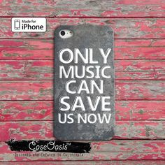 Only Music Can Save Us Now Cool Quote Cute Tumblr iPhone 5 and 5c Case and iPhone 6, 6 Plus, 6s, 6s Plus + and Wallet Case iPhone SE Case
