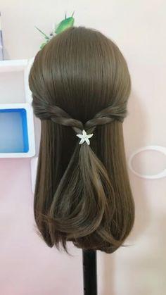 Front Hair Styles, Short Hair Styles Easy, Medium Hair Styles, Hair Style Vedio, Hairdo For Long Hair, Haircuts For Medium Hair, Cool Braid Hairstyles, Hair Videos, Hair Hacks