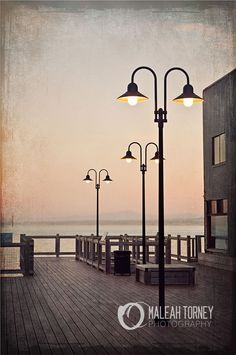 Monteray CA Dock Lights Cannery Row Photography at by MaleahTorney, $30.00