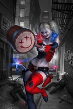 Harley Quinn retailer variant cover for DC Comics! This cover will bec. Héros Dc Comics, Heros Comics, Comics Girls, Harley Quinn Et Le Joker, Harley Quinn Drawing, Harley Quinn Cosplay, Wonder Woman Comics, Harey Quinn, Der Joker
