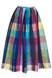 **Limited Edition Taffeta Picnic Midi Skirt