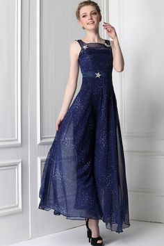 Blue Print Maxi Dress: Starry Night ..love it but not in the sizes i need