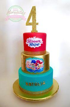 #shimmerandshinecake #cake #girlscake #pastel shimmer and shine