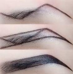 Accessoires Z-Typ Augenbrauen Make-up-Technik Makeup Makeup Techniques eyebrows Eyebrow Makeup Tips, Makeup 101, Skin Makeup, Makeup Inspo, Makeup Inspiration, Makeup Brushes, Makeup Eyebrows, Makeup Ideas, Eye Brows