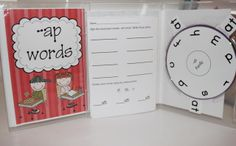 Word family kits using old dvd cases.  Great for kindergarten/first grade homework or word work station