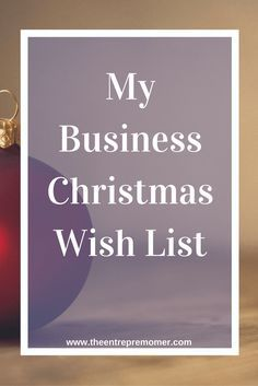Do you have a small business owner or entrepreneur that you are shopping for this year? In my latest post, I list out my business wants that I decided to put on my Christmas wish list this year. If you are in need of a little inspiration, or if you just want to surprise the solopreneur in your life, check it out!