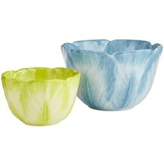 Flower Bowls from Pier 1 Imports. $15.00 each. $10.00 for large bowl. $5.00 for small bowl.