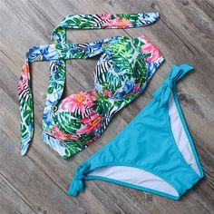BANDEA bikinis women swimsuit push up swimwear 2017 halter bikini summer beach wear print bathing suit HA808