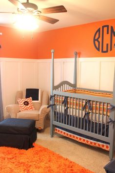 Orange, Grey, Blue.  I also like the added panelling