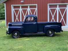 1951 Ford F-1 Pickup for sale on BaT Auctions - sold for $21,750 on July 22, 2020 (Lot #34,245) | Bring a Trailer Upholstered Bench Seat, Firestone Tires, Pickups For Sale, Shop Truck, Rubber Floor Mats, Hub Caps, Steel Wheels, Classic Cars Online