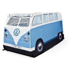 Kid's Pop-Up Tent Blue by monster factory   The VW Tent Store-Volkswagen tents, bags, camping equipment www.coolvwstuff.com