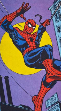 The Amazing Spider-Man - art by Ross Andru and Dick GiordanoYou can find Spider man and more on our website.The Amazing Spider-Man - art by Ross Andru and Dick Giordano Man Wallpaper, Marvel Wallpaper, Cartoon Wallpaper, Comic Book Wallpaper, Iphone Wallpaper, Vintage Cartoons, Vintage Comics, Amazing Spiderman, Marvel Art