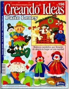 como hacer muñecos navideños revista gratis - Blog de Santa clauss Christmas Books, Christmas Diy, Book Crafts, Craft Books, Free Books, Needlework, Projects To Try, Lily, Quilts