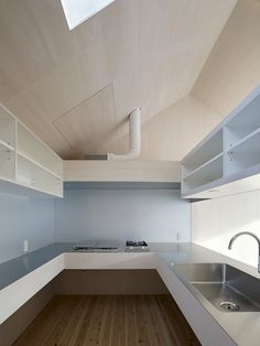 simple kitchen interior modern gable house