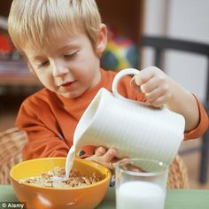 I feel big... when I pour milk on my cereal all by myself.