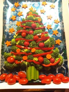 Vegetable Christmas Tree by my friend Cipry!