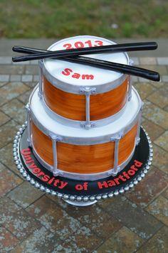 Snare Drum Graduation Cake  on Cake Central                              …
