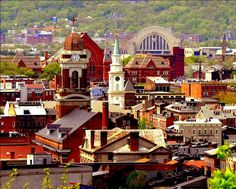 An aerial view of Over-the-Rhine, Cincinnati. Photo: Flickr/OverTheRhine