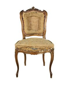 French Deconstructed Walnut Chair, Brown