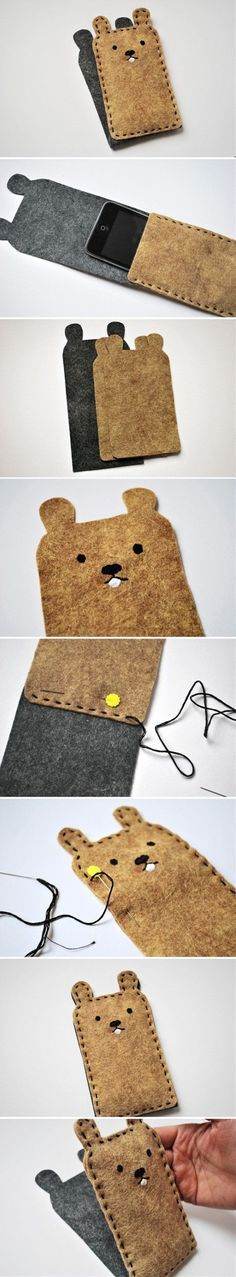 Wool Felt Cell Phone  Feed RSS From Pinterest