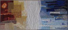 Sea quilt art, Large art quilt, Seascape art quilt, Quilted wall hanging, Abstract landscape, Surf textile art, Textile picture, Beach fiber art, Textured quilt art, Ocean wall hanging, Contemporary textile,Landscape Art Quilt, Textured Quilt, Home Wall Decor, Contemporary Fiber Art,