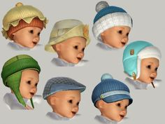 EA Toddler Hats Converted to Baby accessories by Danjaley - Sims 3 Downloads CC Caboodle