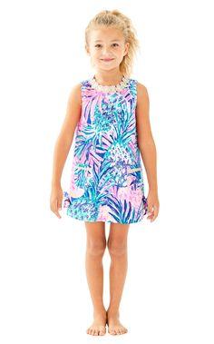 78b03e691a0f12 Lilly Pulitzer Girls Little Classic Shift Dress - Multi Gypset Paradise 10  Girls Party Dress,