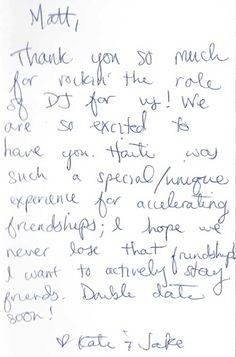 Loved This Unique Thank You Note From A Previous Client All In A