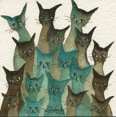 Marvella Stray Cats | Lori Alexander | http://www.straycatartbylorialexander.com/whimsical-cats