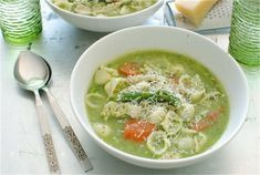 Chicken Pesto Minestrone (from   @Beverly Weidner - Bev Cooks)
