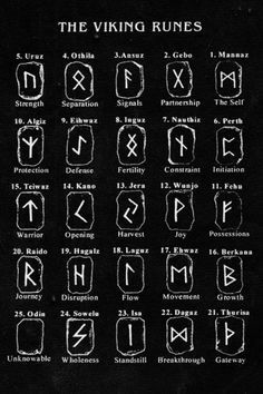 The Viking Runes. The eldest runestones, inscribed with Norse runes, date from the century. These were the Elder Futhark runes. However, the most of the runestones were created during the late Viking Age and thus inscribed with theYounger Futhark runes. Norse Runes, Rune Viking, Elder Futhark Runes, Viking Age, Wicca Runes, Celtic Runes, Witchcraft Symbols, Pentacle, Alphabet Code