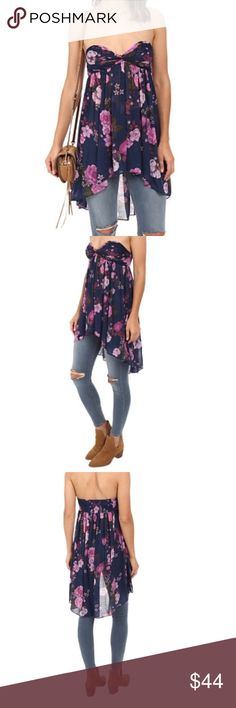 Free People $88 Mirage Top Like new/ never worn no tags from Nordstrom has detachable adjustable straps Free People Tops Tunics